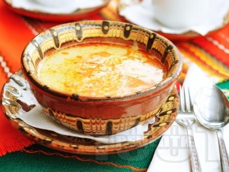 Шкембе чорба от телешко с прясно мляко, брашно и яйца за застройка - снимка на рецептата